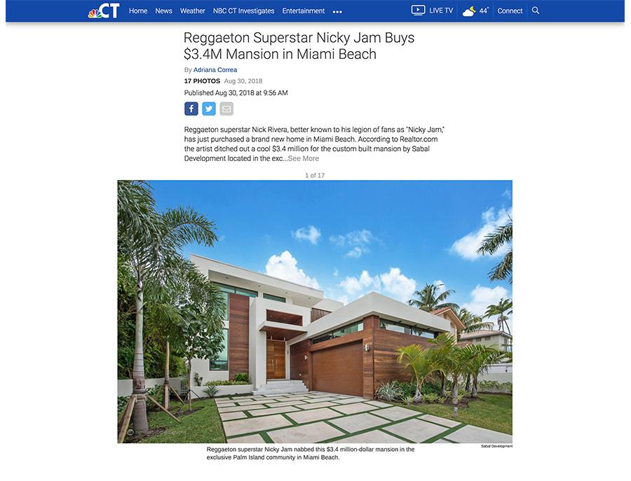 NBC Connecticut– Nicky Jam Buys $3 4M Mansion - LA VIE EST BELLE