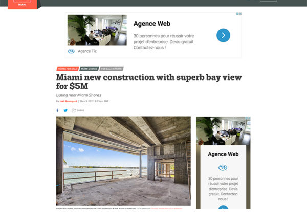 New Construction with superb bay view for $5M